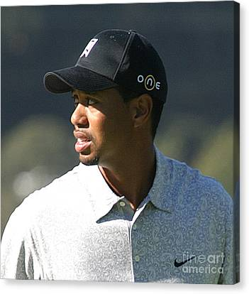 Tiger Woods Canvas Print by Chuck Kuhn