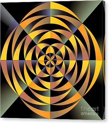 Nature Center Canvas Print - Tigerlike Geometric Design by Gaspar Avila