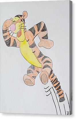 Tigger Canvas Print by Paul Bartoszek