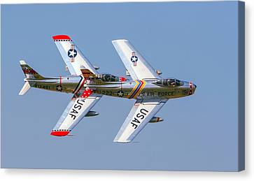 Tight Formation Canvas Print by Allan Levin