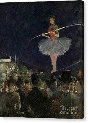 Wire Canvas Print - Tightrope Walker by Jean Louis Forain