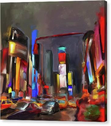 Tiimes Square 561 1 Canvas Print by Mawra Tahreem