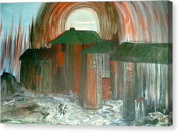 Canvas Print featuring the painting Tijuana Backstreets by Sherri  Of Palm Springs