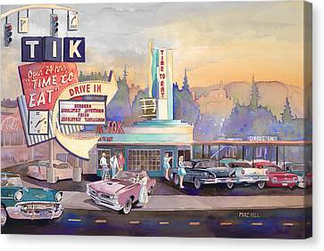 Tik Tok Drive-inn Canvas Print by Mike Hill