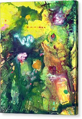 Ruin Canvas Print - Tikal by James Douglas Draper