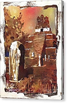 Tikal Mayan Ruins- Guatemala Canvas Print by Ryan Fox