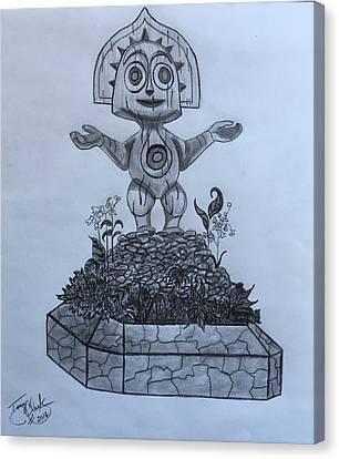 Tiki Canvas Print - Tiki God by Tony Clark