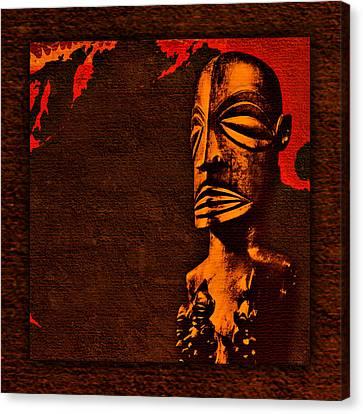 Booze Canvas Print - Tiki Guardian by Tiki Bender