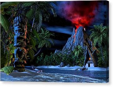 Tiki Jungle Canvas Print by Alex George