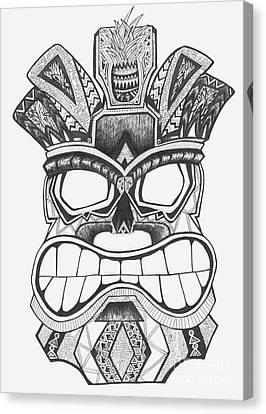 Tiki Canvas Print - Tiki Soul by Michael Miller