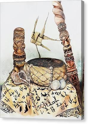 Tiki Canvas Print - Tiki Still Life 1 by Scott Parker