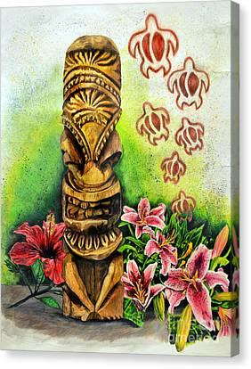 Tiki Canvas Print - Tiki Still Life 2 by Scott Parker
