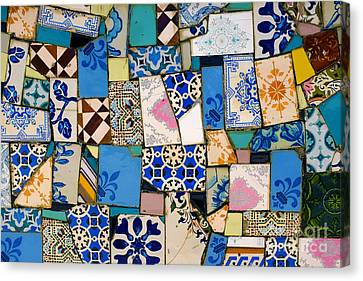 Ceramic Canvas Print - Tiles Fragments by Carlos Caetano