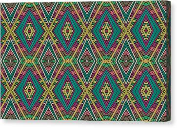 Tiles Canvas Print by Modern Metro Patterns and Textiles