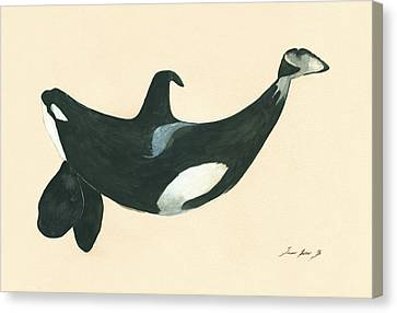 Tilikum Killer Whale Canvas Print by Juan Bosco