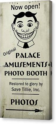 Tillie Photo Booth Sign Canvas Print