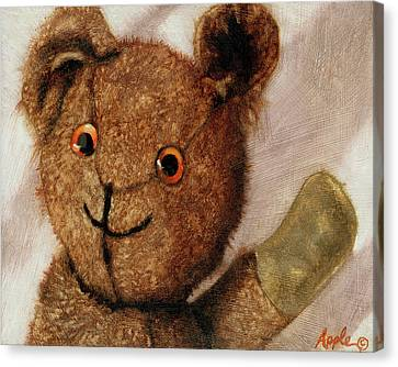 Canvas Print - Tillie - Vintage Bear Painting by Linda Apple