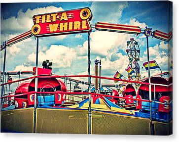 Tilt-a-whirl Carnival Ride Canvas Print by Eye Shutter To Think