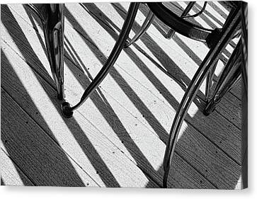 Tilt Black And White Photography Canvas Print by Ann Powell
