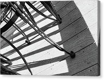 Tilt Two Black And White Photograph Canvas Print by Ann Powell