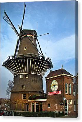 Tilting At Windmills In Amsterdam Canvas Print by Al Bourassa