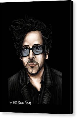 Tim Burton Canvas Print by Kristen Fogarty