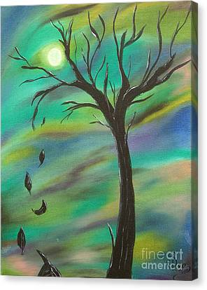 Tim Burton Tree Canvas Print by Sesha Lee