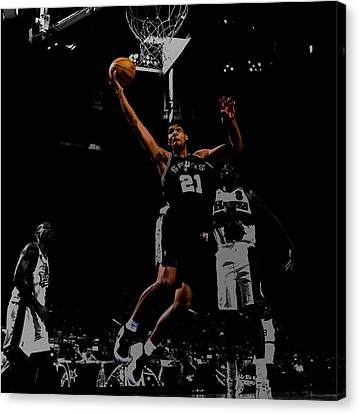 All Star Game Canvas Print - Tim Duncan 2a by Brian Reaves