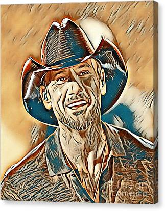 Tim Mcgraw Painting Canvas Print by Tim McGraw Painting