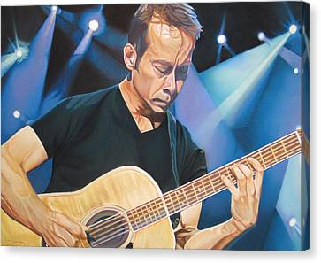 Dave Matthews Band Canvas Print - Tim Reynolds And Lights by Joshua Morton
