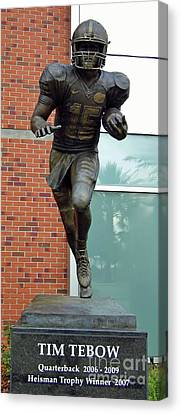 Tim Tebow Canvas Print by D Hackett