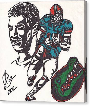 Tim Tebow Gators Canvas Print by Jeremiah Colley