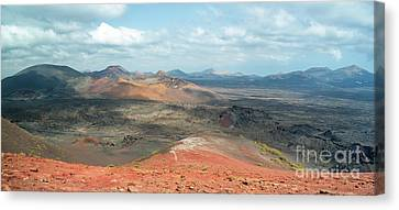 Timanfaya Panorama Canvas Print by Delphimages Photo Creations