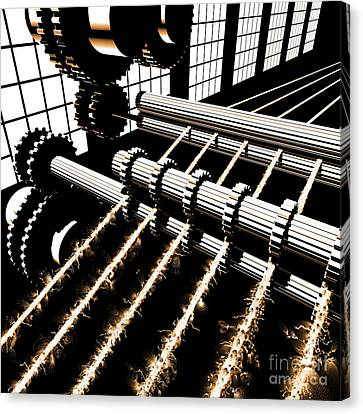 Canvas Print featuring the digital art Time Aerials Industrial Revolutions by Russell Kightley