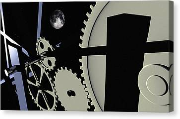 Time And Space Canvas Print by Richard Rizzo