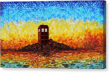 time and space traveller Box in Twilight Zone Canvas Print by Lugu Poerawidjaja