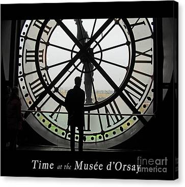 Time At The Musee D'orsay Canvas Print by Felipe Adan Lerma