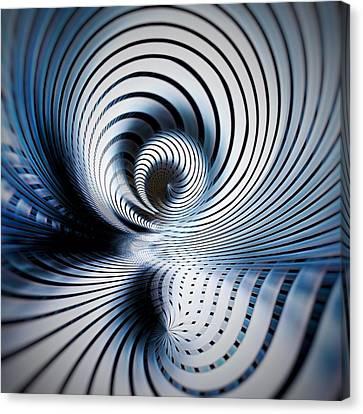 Interlock Blue  Canvas Print