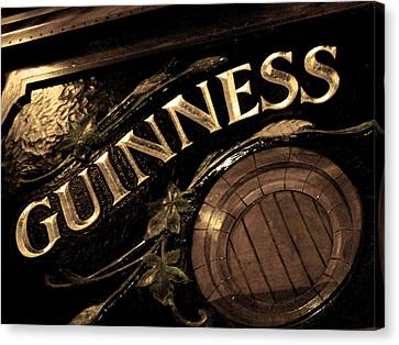 Time For A Guinness Canvas Print by Sheryl Burns
