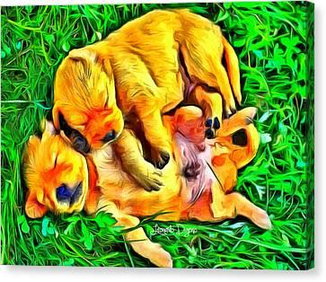 Time For A Siesta Canvas Print by Leonardo Digenio