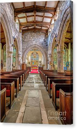 Time For Church Canvas Print by Adrian Evans