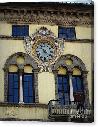 Time In Lucca Canvas Print by Lainie Wrightson