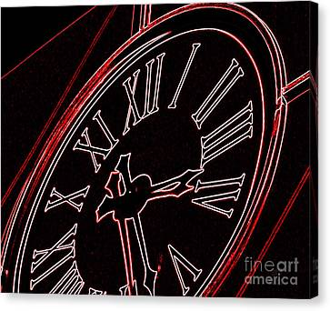 Time In Red And Black Canvas Print