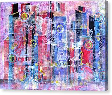 Time In The City Canvas Print by David Raderstorf