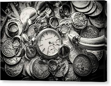 Time Is Money Canvas Print by Nichon Thorstrom