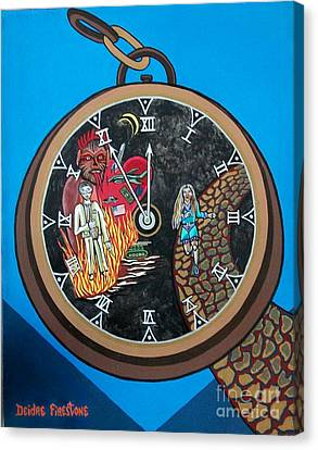 Time Is Running Out And I Am Running Scared Canvas Print by Deidre Firestone
