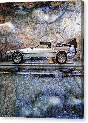 Time Machine Or The Retrofitted Delorean Dmc-12 Canvas Print by Bob Orsillo