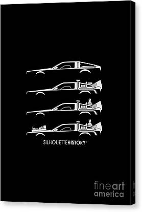 Time Machine Silhouettehistory Canvas Print by Gabor Vida