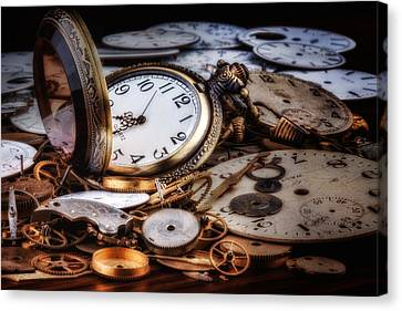 Time Machine Still Life Canvas Print by Tom Mc Nemar