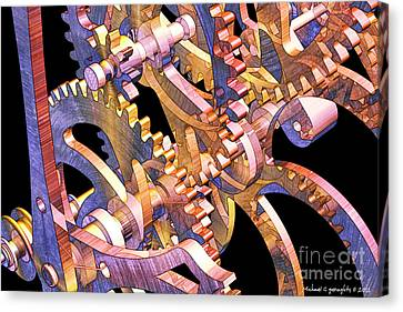 Time Mechanics V1 Canvas Print by Michael Geraghty